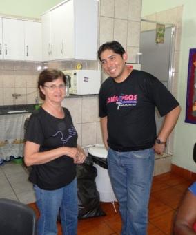 Ir. Leonira, OSR, e Carlos MSF (voluntário)